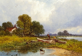 Woodcutters in a Landscape
