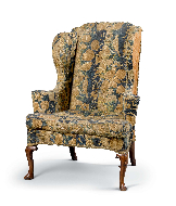 Tapestry Wing-Back Armchair