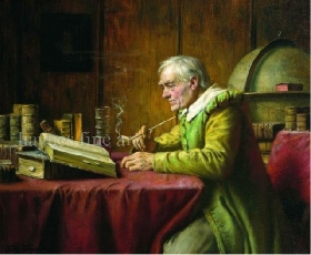 A Scholar Smoking a Pipe