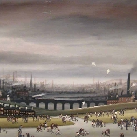 Figures in an Industrial Landscape