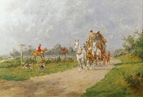 A Coach and Four Passing the Hunt