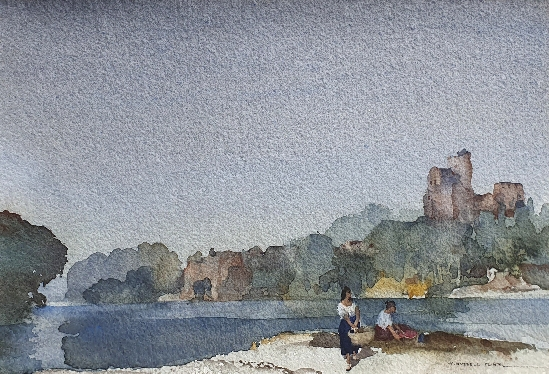 Sir. William Russell Flint - On the Vienne