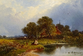 Fishermen in a Landscape